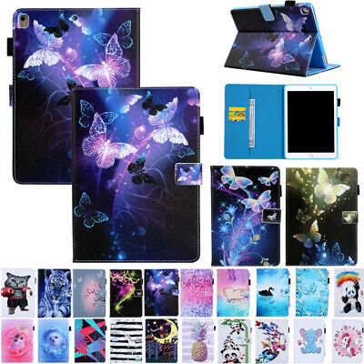 For iPad 5/6th Gen /Air 1 2/Mini Smart Magnetic Flip Card Slot Stand Case Cover
