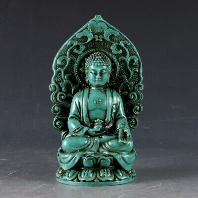 100% Natural Turquoise Hand Carved Buddha Statues LSS006+a