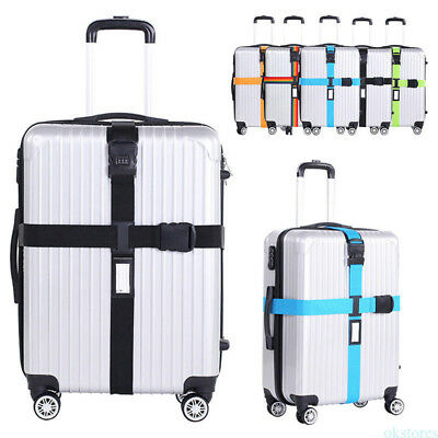 Adjustable Luggage Packing Cross Baggage Belt Suitcase Safe Trolley Case Travel