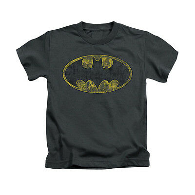 DC COMICS BATMAN TATTERED LOGO Licensed Boys Graphic Tee Shirt 2T 3T 4T 4 5-6 7