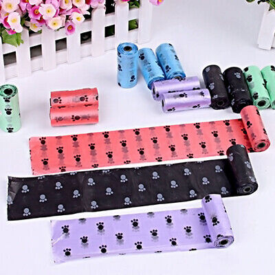 5 Rolls Pet Poo Poop Bag Dog Cat Waste Garbage Pick Up Clean Refill Garbage Bags