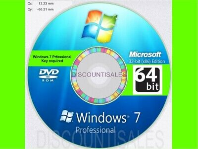 Windows 7 Professional Pro 64 -FULL INSTALL*Restore*Repair*Recover 8-10 +DRIVERS
