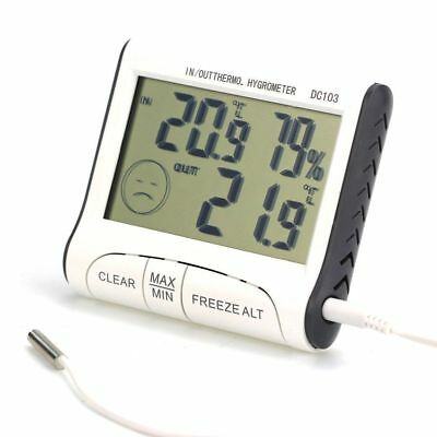 Room Thermometer Hygrometer Max Min Temperature Humidity Indoor Outdoor