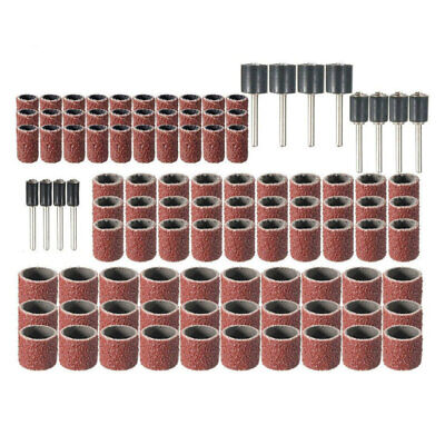 102pc Sanding Drum Set Rotary Tool Rubber Mandrel Bands Sleeves 1/2 Useful
