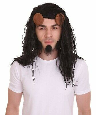 Ragnarok Halloween Party Costume HM-596 Brown Short Wig with Beard Cosplay Thor