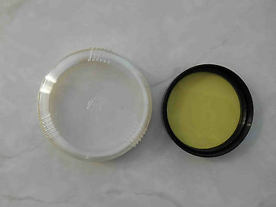 Yellow light filter Ж-1.4 mount 52 mm in box for russian lens Helios 44M, 81N