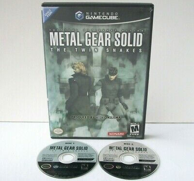Metal Gear Solid: The Twin Snakes (Nintendo Gamecube) Game & Case Black Label