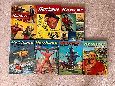 7 x Hurricane Annuals, all Unclipped & in Good Condition