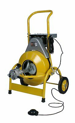 "Steel Dragon Tools® 1000 Drain Cleaning Machine with 1/2"" x 75' Inner Core Cable"