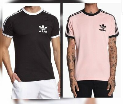 Adidas Originals Sport Essential California Crew T Shirt Black/Vapour Pink Mens