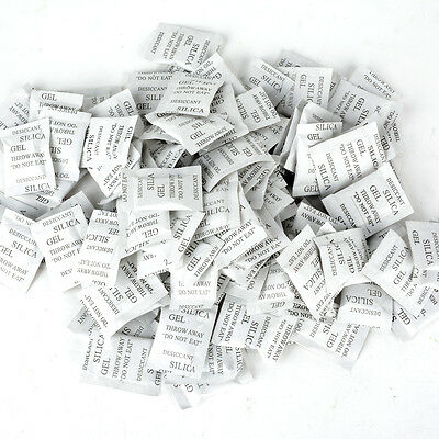 100/500 Packs Silica Gel Packets - Desiccant Non-Toxic Absorb Moisture Beads Bag