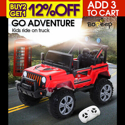 Bopeep 12V Kids Electric Ride on Jeep Toys Remote Control Car Off Road Red