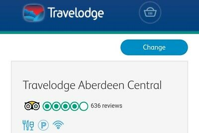 Travelodge hotel Aberdeen Central Thursday 28th March