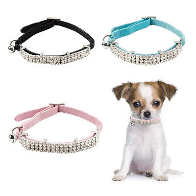 Collare regolabile Gatto Safe Velluto morbido di CHCHI Bling Diamante Bells11