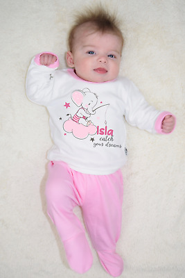 Personalised Catch Your Dreams Organic Baby Pyjamas Footed Baby Gifts