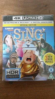 SING Special Edition 4K Ultra HD + Blu-ray + Digital Download *NEW & SEALED*