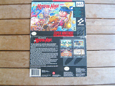 THE LEGEND OF THE MYSTICAL NINJA (1991) Super Nintendo (SNES) COVER NO CARTUCCIA