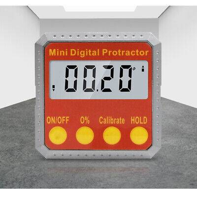 Cube Inclinometer Angle Gauge Meter Digital Protractor Electronic Level Box 360°