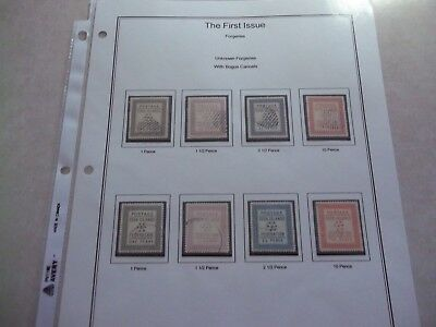COOK ISLANDS STAMPS SG 1-4 Scarce Early Forgeries With Bogus Cancels Used Study