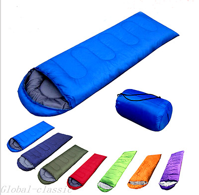 Adult Single Sleeping Bag* 3 Season Camping Travel Outdoor Cotton  Envelope Warm