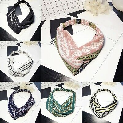 Women Girl Boho Turban Twist Knot Head Wrap Headband Twisted Knotted Hair Band