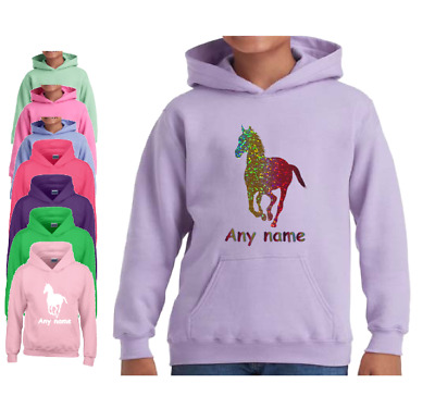PERSONALISED HORSE RIDING HOODIE traditional GYPSY COB VANNER HEAVY HORSE