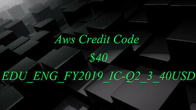 $300 AWS AMAZON Web Services Credit Code - New Event 2019 - $135 00