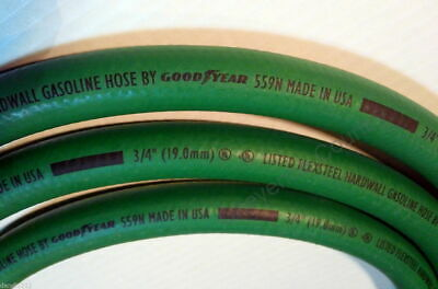 "GOODYEAR 3/4"" x 12' FLEXSTEEL Green HARDWALL DIESEL FUEL HOSE 559N"