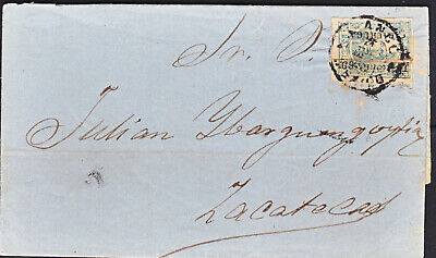 MEX1868 25c PACHUCA 17-69 ANOTADO ON COVER TO IBARGUENGOYTIA (H1668)
