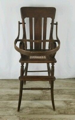Antique Child's infant High Chair 1900's Victorian