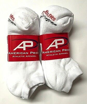 3 //6 //12 Pairs HANES Men/'s White Cotton Stretch Athletic Ankle Sock Size10-13.