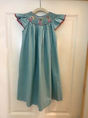 04dede7a75e GIRLS SHRIMP AND Grits Kids Smocked Gingam Dress Size 7   EEUC ...