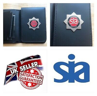 Police Style ID Card Holder SIA Licence Holder ID Wallet With SIA Security Badge