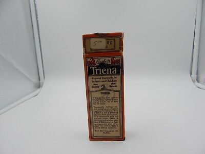 Vintage Rucker's Triena Children's Laxative Medicine Bottle