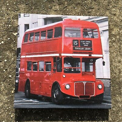"""LONDON DOUBLE DECKER BUS """"Red"""" Gorgeous Decorative Hanging Picture Wall Art"""