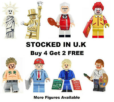 Famous People Minifigure Donald Trump Ronald McDonald USA Mr Gold Mini Figure