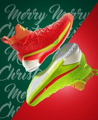a44d2e80449 ANTA KLAY THOMPSON Basketball Men s Shoes KT4 sneaker 2018 Green Red ...