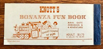 Vintage 1970s KNOTTS BERRY FARM Theme Park Attraction Child Tickets
