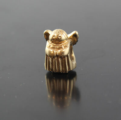 Discontinued Pandora ALE 14K Solid Yellow Gold Angel Of Hope Bracelet Charm