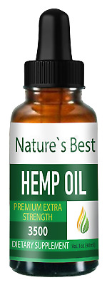 BUY 2 GET 1 FREE! Pure High Potency Hemp Oil Extract 2500mg ; 3500mg USA Product