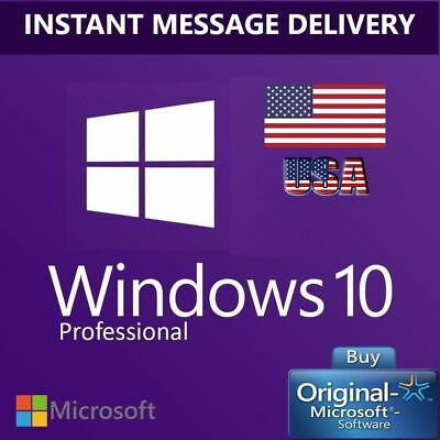 Microsoft Genuine Windows 10 Pro 32 and 64 Bit Activation Code License Key