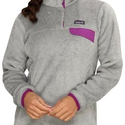 00f9421cd Patagonia Womens Re-Tool Snap-T Pullover XS Tailored Grey- Ikat Purple