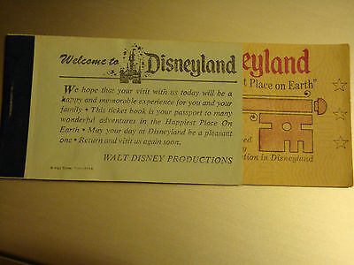 DISNEYLAND 1965 COMPLIMENTARY 3 Star A-E Magic Key Tickets 3