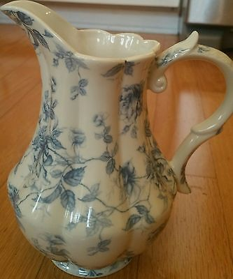 Blue Toile Fine Porcelain Pitcher By Coastline Imports