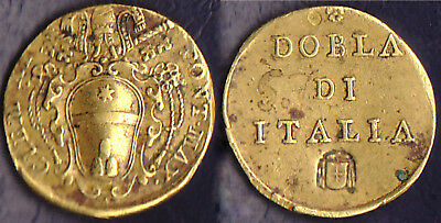 ROMA peso monetale weight coin monetaires 2 Scudi d'oro Clemente XI(1770-1721)