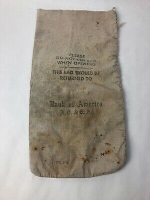 Vintage Bank of America money bag - Fast Free Shipping