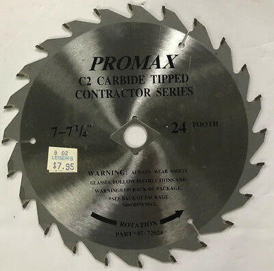 "ProMax C2 Carbide Tipped 24 Tooth - 7"" or 7 1/4"" Circular Saw Blade"