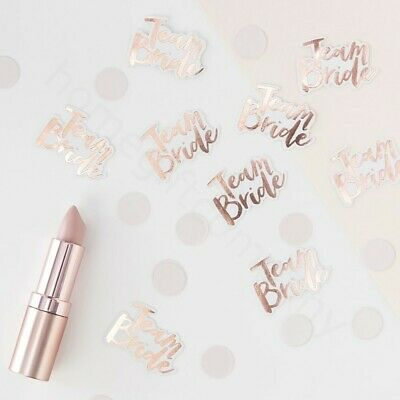 Rose Gold Team Bride Table Confetti Scatter Sprinkles Hen Party Table Decoration