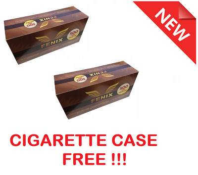 1000 (2x500) EMPTY CIGARETTE FILTER TUBES WRB MAKE YOUR OWN, CASE FREE!!!
