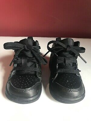da9ed1894861 Nike Air Jordan 1 Mid 4C Black on Black Toddler Basketball Shoes 640735-030